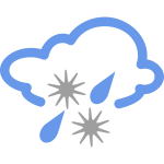 Ice rain weather symbol vector image