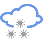 Icy rain weather symbol vector image