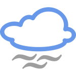 Fog weather symbol vector image