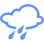 Rainy cloud outline vector image