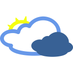 Cloudy with some sun weather symbol vector image