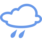 Rain weather symbol vector image