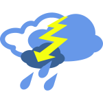 Thunderstorm weather symbol vector image
