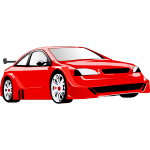 Vector graphics of a sports vehicle