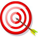 Vector image of target with arrow