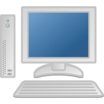 Thin desktop computer vector image