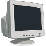 Vector graphics an old CRT computer monitor