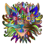 Anthropomorphic Face Prismatic Pattern