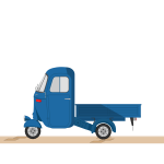 Cartoon blue truck