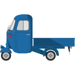 Blue truck image