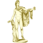 Apollo in marble statue