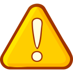 Yellow attention sign