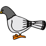 Vector graphics of dove standing