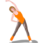 Color vector image of a fitness girl