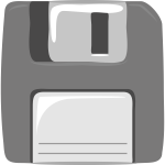 Gray computer diskette vector clip art