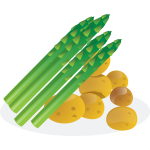 Asparagus and potaoes