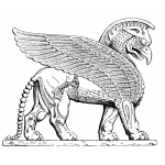 Assyrian Winged Lion vector image