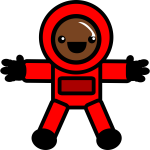 Astronaut in red suit