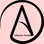 Atheist sign vector drawing