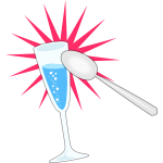 Party glass and spoon vector image