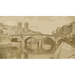 Auguste Hippolyte Collard Ancien pont Saint Michel 1857 2016122041