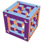 Orange and violet cubes