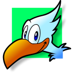 Simple bird avatar vector clip art