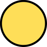 Empty smiley circle vector image
