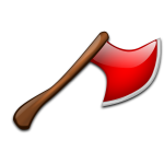 Red axe vector drawing