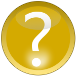 Yellow question mark sign vector image