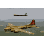 B17g and b52h in flight 2016052831