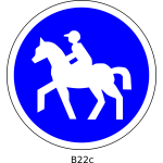 Horsedrivers only traffic sign vector image