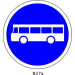 Buses only road sign vector image