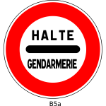 Vector drawing of stop French border police traffic sign