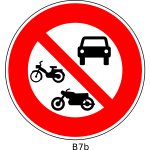 No motor vehicles road sign vector image