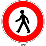 No walking road sign vector image