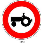No tractors road sign vector image