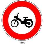No mopeds road sign vector image