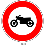 No motorcycles road sign vector image