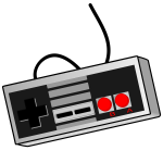 Old style game controller vector clip art