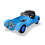 Blue old-timer car vector