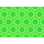 Background hives in green
