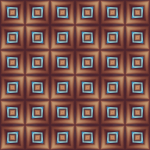 Brown background with blue squares