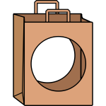No shopping vector symbol