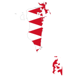 Bahrain Map Flag