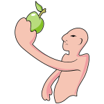 Man and apple