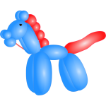 Balloon horse vector image
