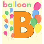 Balloons with B letter