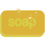 Bar of yellow soap vector image