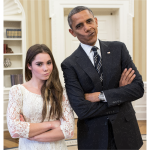 Barack Obama With Artistic Gymnastic McKayla Maroney 2